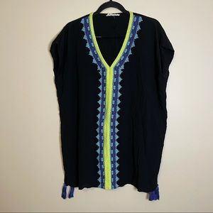Lovestitch Black Embroidered Cover-Up Size S/M